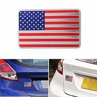 Car American USA Flag Emblem Sticker Metal Badge Decal Decor Universal For Truck Auto