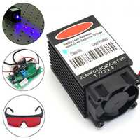Powerful 2W 445nm 450nm Blue Laser Diode Module 2000mw Engraver with 405nm Goggles