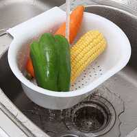 Multifunctional Creativity Hanging Sink Drain Basket Vegetables Fruit Storage Kitchen Organizer
