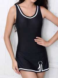 Comfort Low U Back One Piece Solid Color Multi Style Tankini