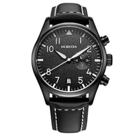 OCHSTIN GQ043C Fashion Men Quartz Watch Luxury Leather Strap Sport Watch