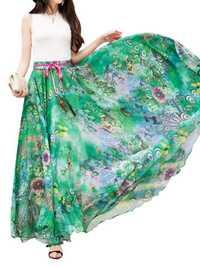 Summer Bohemian Floral Printed Chiffon Skirts