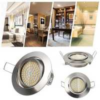 LUSTREON 5W 64 LED 490lm Round Recessed Ceiling Down Light Dimmable Spotlight AC220V-240V