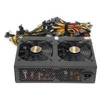 220V 3300W Miner Chassis Power Supply Coin Miner Mining Rig Machine for 12 GPU 6+2p*12