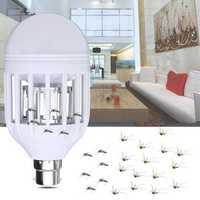 AC220V E27 B22 7W LED Mosquito Bug Zapper Light Bulb Flying Insects Moths Killer Lamp