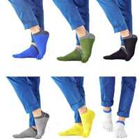 1 Pair Of Mens Cotton Toe Socks Five Finger Sports Outdoor Work Cotton Colours
