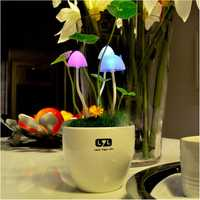 Light Sensitive Colors Changing LED Mushroom Night Light Decorative Lights Home Decor Gift