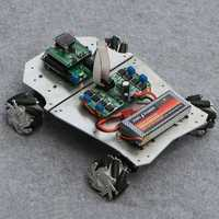 DIY 4WD ROS Smart RC Robot Car Programmable bluetooth APP Control 60mm Mecanum Wheel With Suspension System