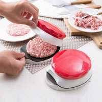 DIY Homemade Hamburger Press/ABS Adjustable Hand Held Hamburger Patty Make Slicer Kitchen Tool