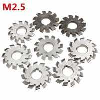 M2.5 Bore Diameter 22mm #1-8 HSS 20degree Involute Gear Milling Cutter