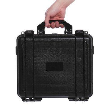 Black Waterproof Hard Plastic Carry Case Bag Tool Storage Box Portable Organizer