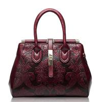 Genuine Leather Shoulder Bag Embossed Women Bag New Fashion