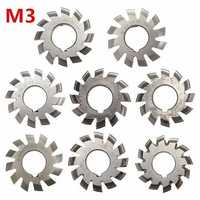 M3 PA20 Inside Bore Diameter 22mm #1-8 HSS Involute Gear Milling Cutter