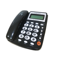 Desktop Corded Landline Telephone Data Calculation Corded Phone With Speakerphone