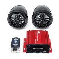 Motorycle Audio Remote Sound System Support SD USB MP3 Player FM Radio bluetooth Speaker Anti-Theft