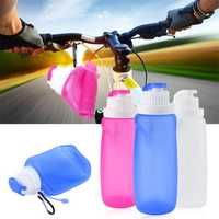 320ML Collapsible Silicone Foldable Soft Water Bottle Outdoor Sports Travel Hiking
