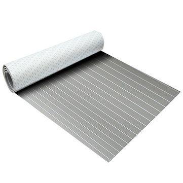 120x240x0.5cm Black with White EVA Foam Boat Flooring Sheet Faux Teak Decking Pad