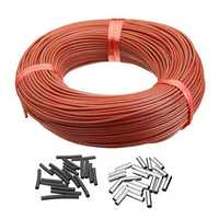 33Ohm Infrared Heating Floor Heating Cable System 100M PTFE Carbon Fiber Wire Electric Floor Hotline Thickening