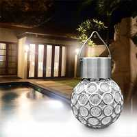 Solar Hanging LED Plastic Ball Bulb Colorful / Pure White Outdoor Garden Yard Path Landscape Decor