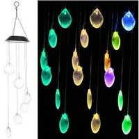 Solar Power LED Wind Chime Light Color Changing Home Garden Wedding Decor