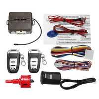 12V Car Security Alarm System Keyless Entry Push Button Engine Start Remote
