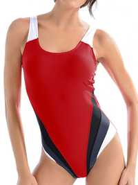 Colorblock Seamless Professional Training Swimsuit