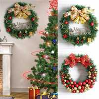 Christmas Party Home Decoration 30cm Wreath Rattan Pendant Toys For Kids Children Gift