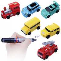 Christmas Mini Automatic Induction Magic Truck Car Line Following With Pen Kids Children Gift Toys