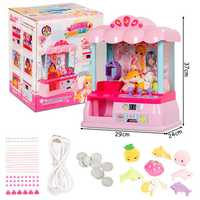 Kids Candy Grabber Electric Claw Machine Crane Token Home Toys With Music Light