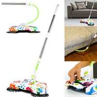 Automatic Hand Push Sweeper Spin Broom Household Floor Clean Tools Without Electric