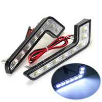 L Shape 5W LED DRL Daytime Running Lights Fog Lamp White for Benz C E S