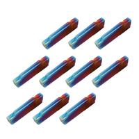 Drillpro 10pcs HRC45 Blue Nano MGMN200-G 2mm Carbide Insert for MGEHR/MGIVR Turning Tool Holder