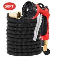 MATCC 8 Patterns Heavy Duty Spray Nozzle Expandable Water Hose High Pressure Washer