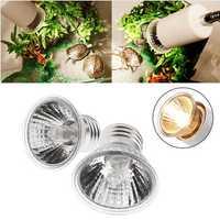 E27 25W 50W 75W UVA+UVB Reptile Heating Plant Light Bulb Pet Lamp AC220-240V
