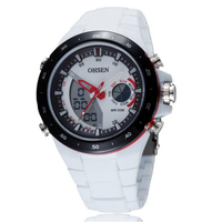 OHSEN AD2802 Digital Analog Alarm Stopwatch Men Sport Watch