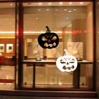 Halloween Pumpkin Sticker PVC Removable Wall Window Sticker Terror Halloween Decorations