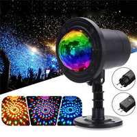 RGB 4 LED Crystal Magic Rotating Ball Effect Stage Light Party KTV Bar Disco DJ AC90-245V