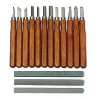15Pcs Woodcut Knife DIY Tool Engrave Hand Carving Wood Chisel Woodworking Graver