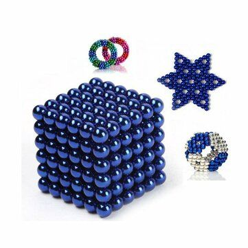 216PCS 3mm Magnetic Buck Ball Magnet With Box Colorful Intelligent Stress Reliever Toy Gift