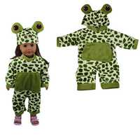 Sleeping Baby Frog Shape Doll Clothes Set For 18'' American Girl Without Reborn Baby