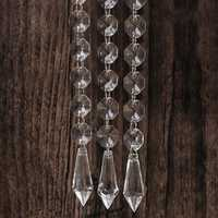 30PCS Acrylic Crystal Beads Chain Chandelier Pendant Light Garland Hanging Wedding Home Party