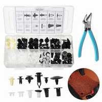 146Pcs Door Fender Push Pin Car Rivet Clips Panel Body Screws Push Type Retainer Kit