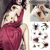 Halloween 3D Spider Paster Halloween Makeup Scars Terror Festival Sticker