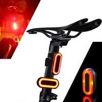 XANES 2pcs STL03 100LM IPX8 Memory Mode Bicycle Warning Taillight 6 Modes 1200mAH USB Charging 360° Rotation