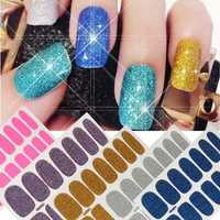 12 Style Shine Glitter Waterproof Manicure Tips Decoration Decal Scrub