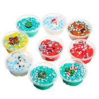 60ML Christmas Cloud Slime Scented Charm Mud Stress Relief Kids Clay Toy