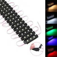 20PCS DC12V SMD5050 Waterproof 3LEDs Module Colorful Decorative Strip Light for Home