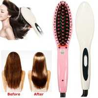 220V Professional Electric Hair Straightening Brush Straightener Irons Massager Straight Comb