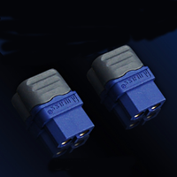 A Pair Dualsky XT60B XT60 Connector Female Set Battery Connector Adapter With Wire Casing Hot Shrink Tube For RC Drone