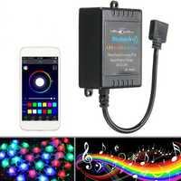 bluetooth Phone APP Controller Music Remote For 5050/3528 RGB LED Strip Light 12V